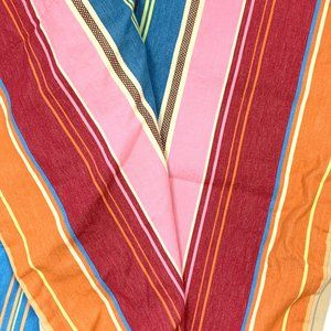Pottery Barn PB Teen Colorful Stripe Curtain Drape